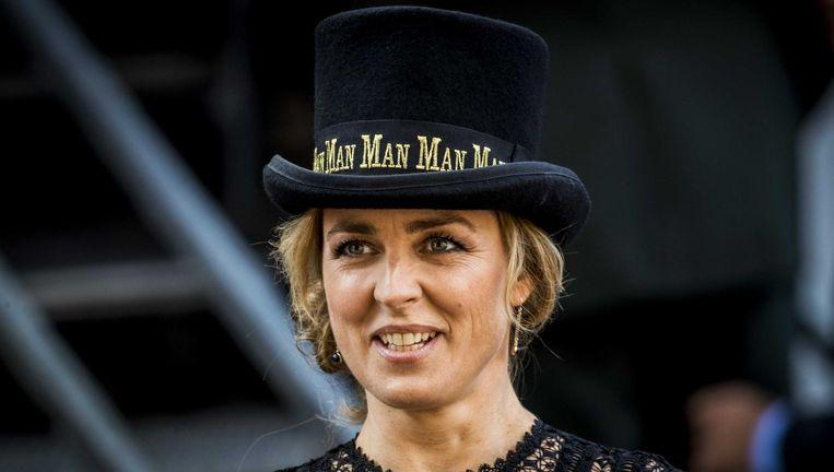 Marianne Thieme met haar 'mannelijke hoge hoed' tijdens Prinsjesdag. Beeld anp