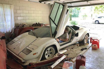 Student vindt zeldzame Lamborghini en Ferrari in garage van zijn oma