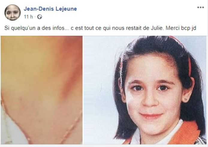 La publication Facebook de Jean-Denis Lejeune