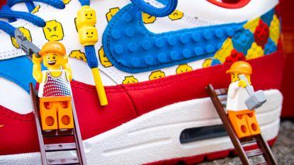 """Sneakers gemaakt met LEGO-blokjes vallen in de smaak: """"Echte schoenen en je kan er ook écht mee spelen"""""""