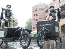 Fietskoerier nieuw in straatbeeld van Hellendoorn