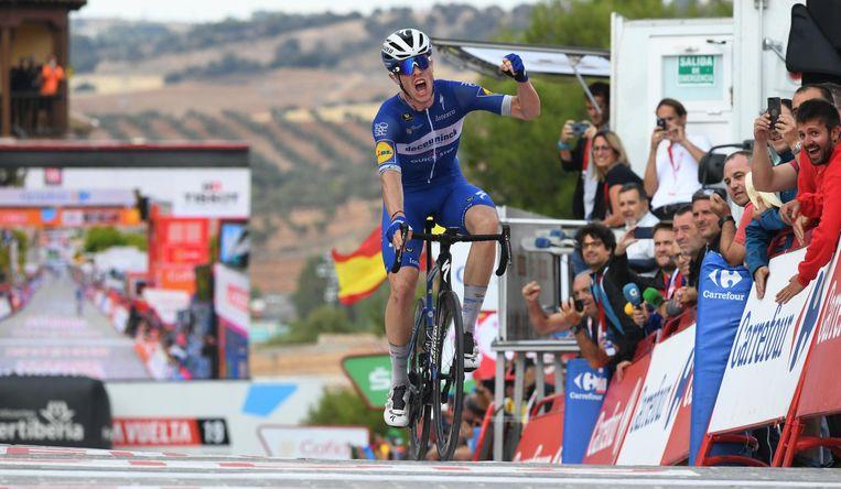 Remi Cavagna won een rit in de Vuelta