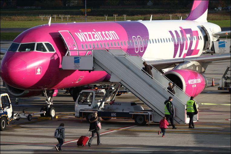 Een toestel van Wizz Air.