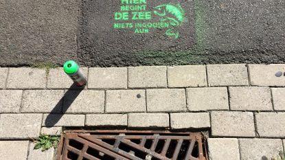 Rioolputjes krijgen slogan: 'Hier begint de zee, niets ingooien aub'