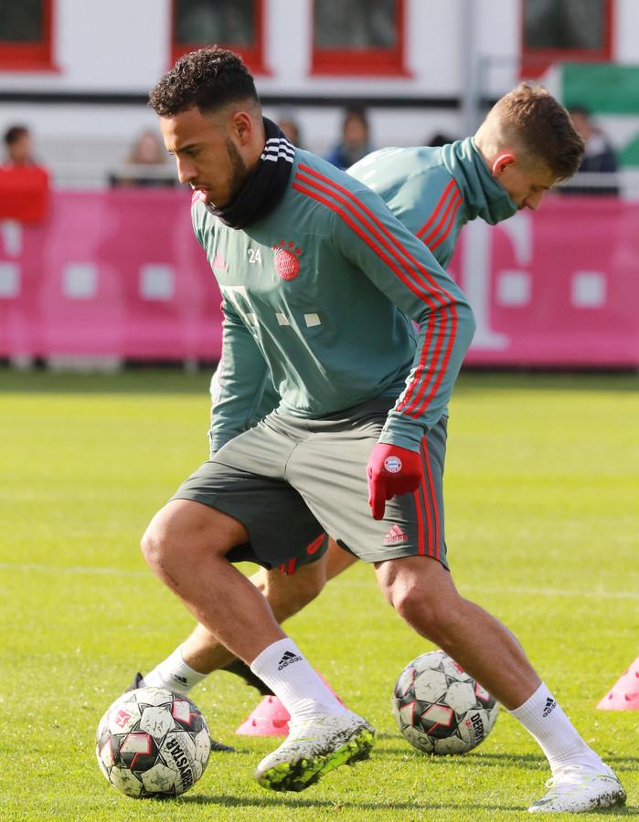 Tolisso in actie op het trainingsveld van Bayern.
