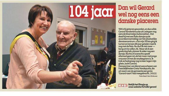 Vrijdag beleefde Gerard Vandenbroucke nog een spetterend feest voor zijn verjaardag.