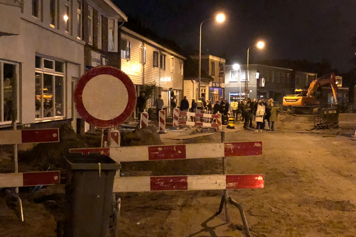 Beeld vanuit de Nieuwstraat in Almelo.
