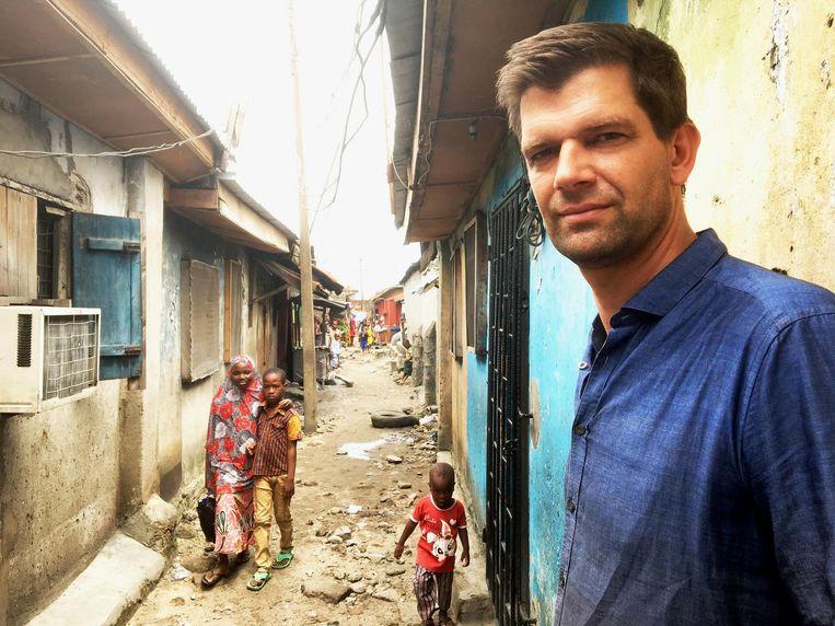 Bram Vermeulen in Lagos, Nigeria: 'Dat we dicht bij een oplossing zouden zijn, is totale nonsens.' Beeld David Kleijwegt