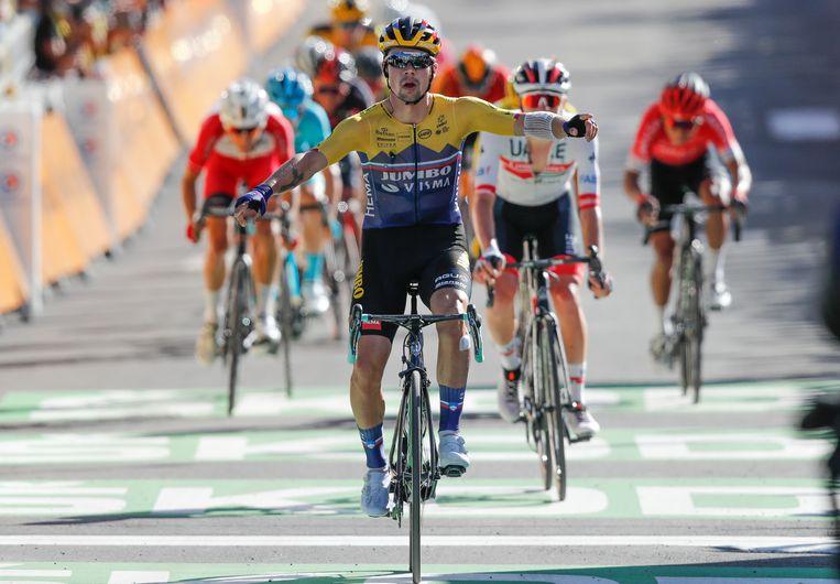 Primoz Roglic wint in Orcières-Merlette. Beeld AP