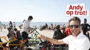 """Andy op trot in Oostende: """"Nergens vind je een mooiere plek om met zicht op zee te eten"""""""