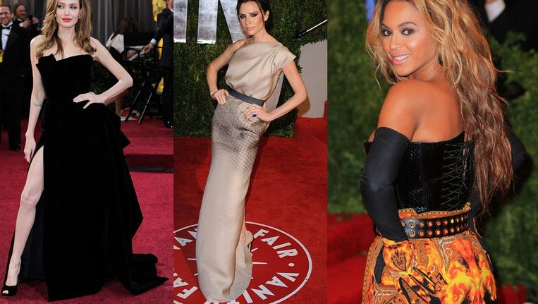 Angelina Jolie, Victoria Beckham en Beyoncé.