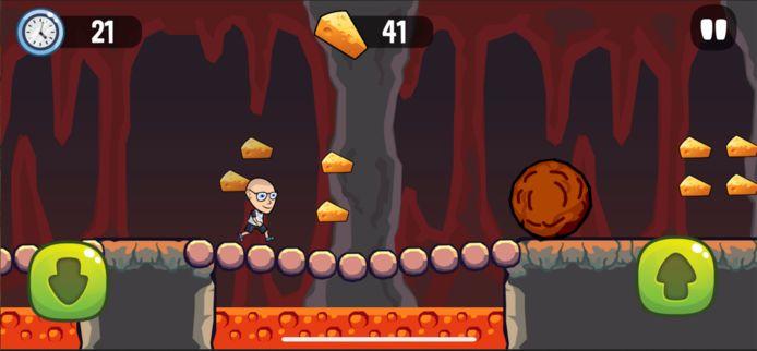 Het populaire spelletje 'Kaasje', ontworpen door YouTuber Koen van Heest.