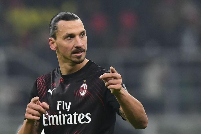 Zlatan Ibrahimovic tijdens zijn rentree voor AC Milan tegen Sampdoria.
