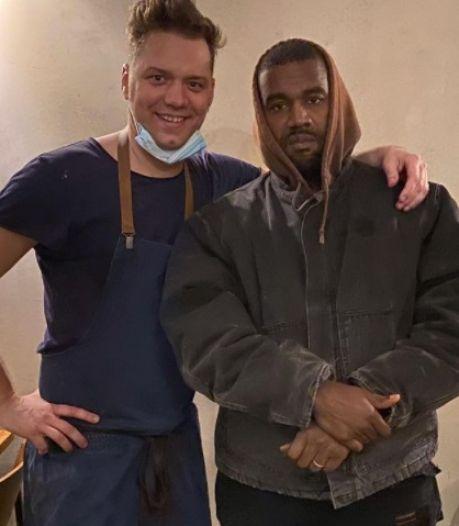 Kanye West de passage dans un restaurant d'Anvers