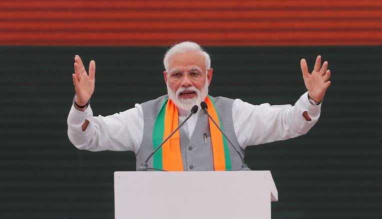 De premier van India, Narendra Modi. Beeld REUTERS