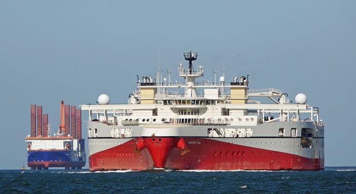 De Ramford Titan is geschikt voor seismografisch onderzoek van de zeebodem.
