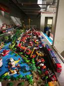 De Playmobil-collectie van Jayden, voor het ongeluk.