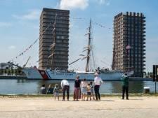Voorsmaakje Tall Ships Race: bezoek tot maandag Amerikaans militair zeilschip Eagle