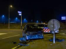 Auto's total loss bij botsing op de N201 bij Vinkeveen