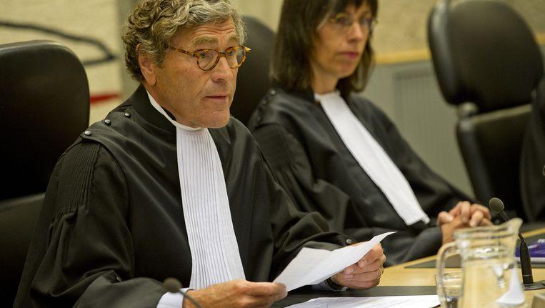 Rechter Marcel van Oosten (links) tijdens het Wilders-proces. Beeld ANP
