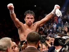 Pacquiao over bokswedstrijd met McGregor: 'Ik wil dat ervaren, knokken met een MMA-vechter'