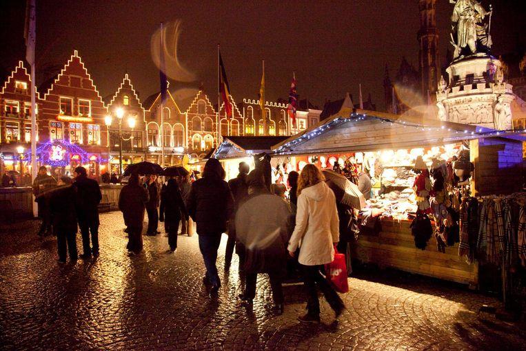 De 'Wintermarkt' in Brugge.