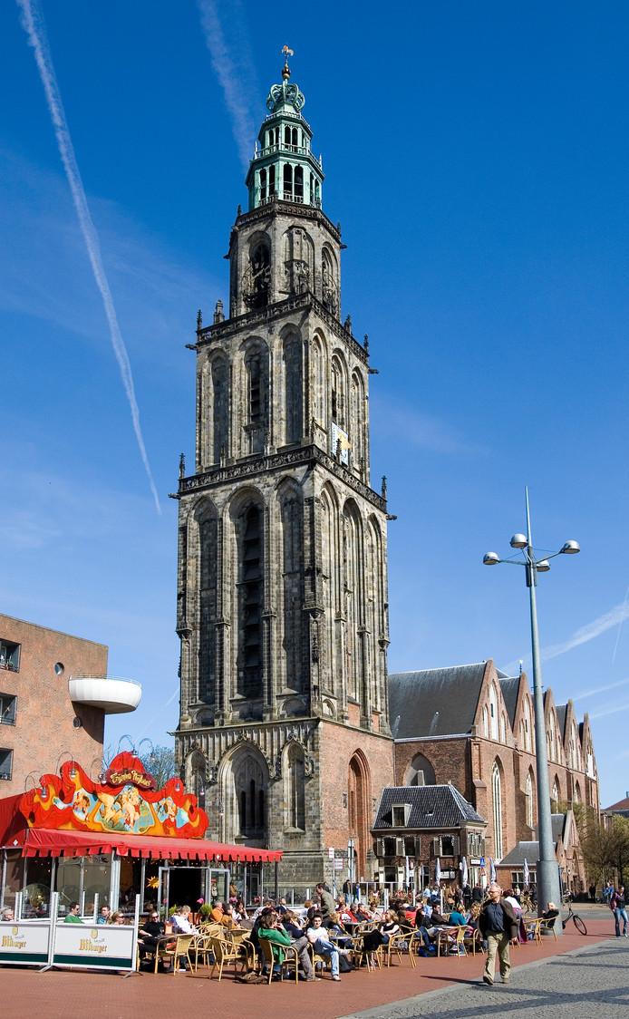 De Martini toren op de Grote Markt in Groningen.