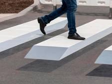 3D-zebrapad moet hardrijders Witte de Withstraat stoppen