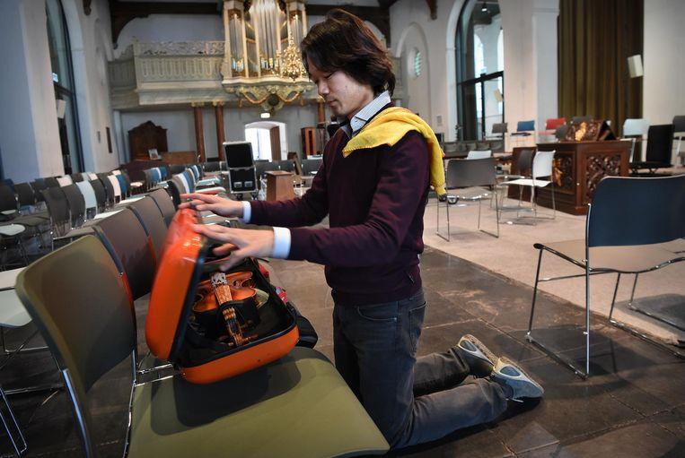 De Japanner Shunske Sato (34), de nieuwe artistiek leider van de Nederlandse Bachvereniging. Beeld Marcel van den Bergh / de Volkskrant