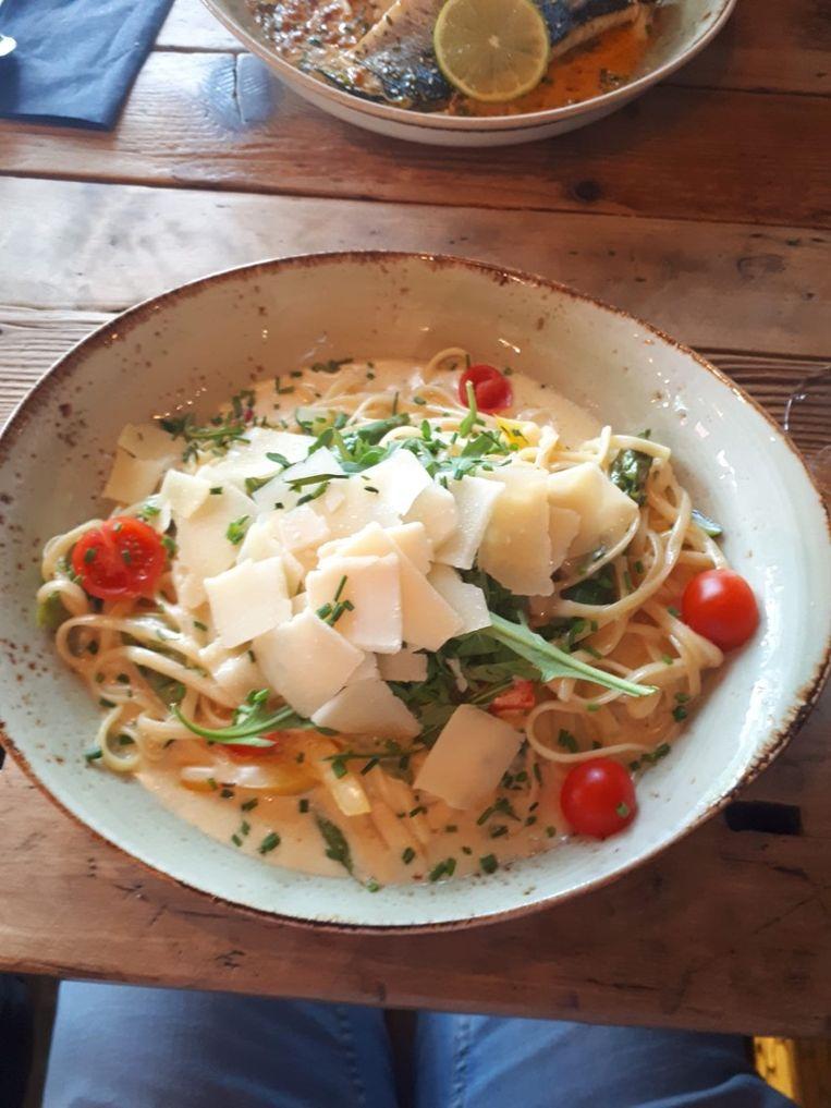 Linguini met asperges