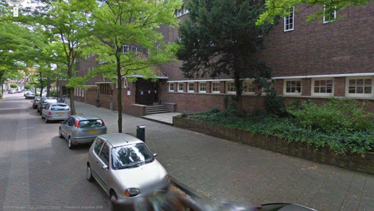 Het Hervormd Lyceum Zuid in Amsterdam. Beeld Google Streetview.