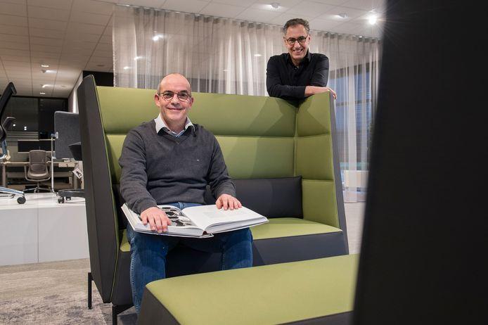 Johan Suijkerbuik (links) en Rob Monseurs van projectinrichter Wout Monseurs in Breda.