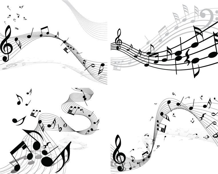 notes staff set / muzieknoten