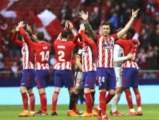 Athlético blijft in het spoor van koploper Barça