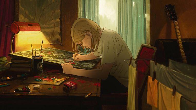 Animatie uit de documentaire Kurt Cobain:Montage of Heck. Beeld