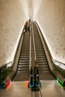 Roltrappen als kunstwerk in de Elbphilharmonie