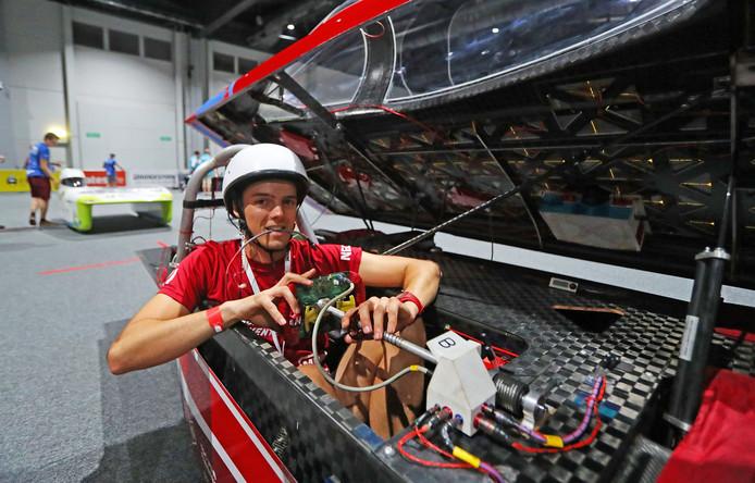 De zonnewagen van Solar Team Twente is er klaar voor.