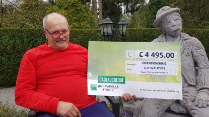 4.495 euro voor nieuwe keuken in zaal Centrum dankzij vriendenkring Luc Wauters