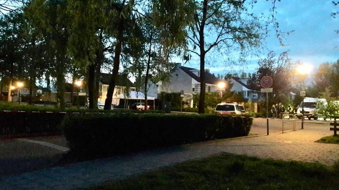 Plaats van het schietincident in Schijndel, waar Daan Hoefs om het leven kwam.