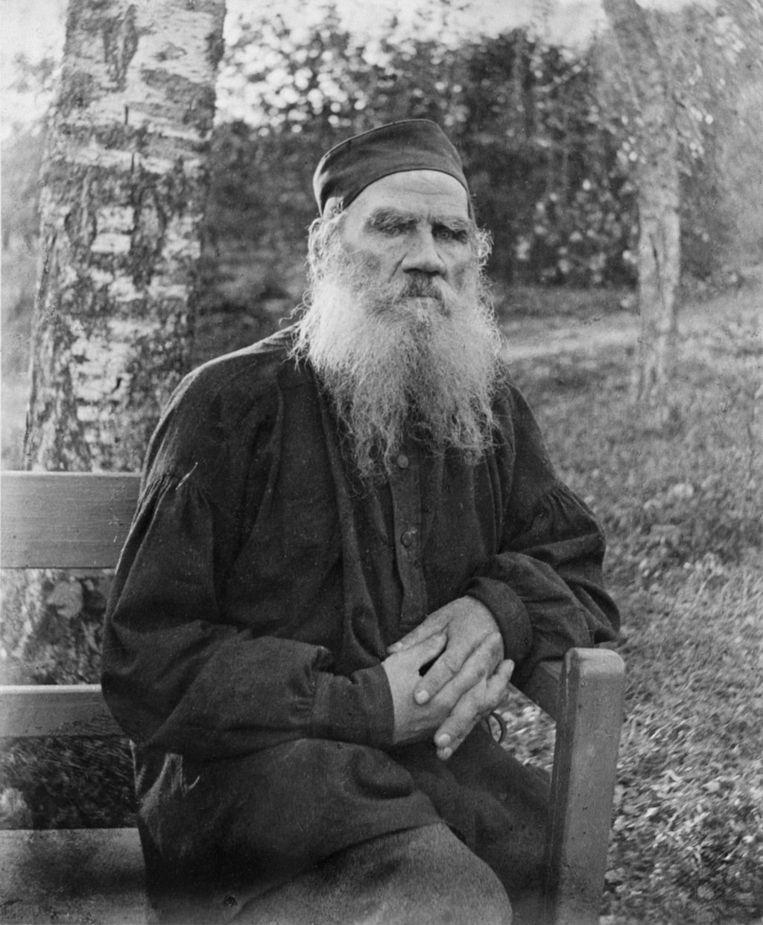 Leo Tolstoj in 1897 Beeld .
