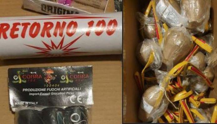 In een woning in Borculo werd maandag 250 kilo illegaal vuurwerk gevonden.