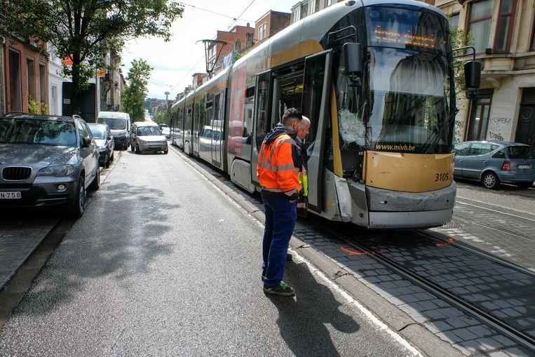 ongeval met tram Rogierlaan