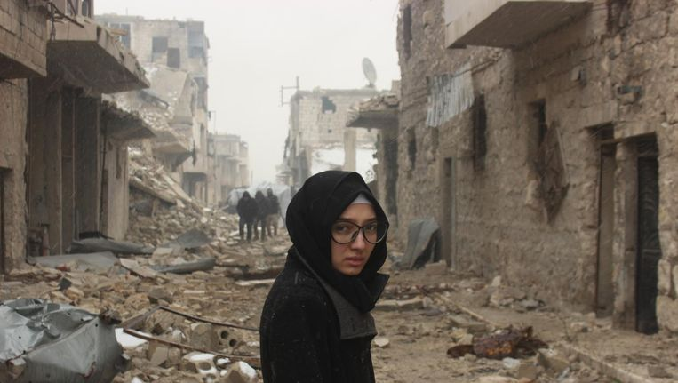 Lina in Aleppo, 36 hours before leaving. Beeld Lina Shamy