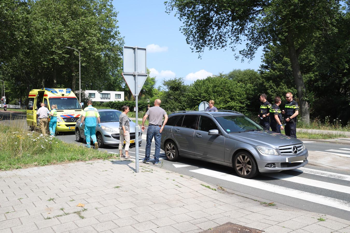Ongeluk op Westlandseweg in Delft.