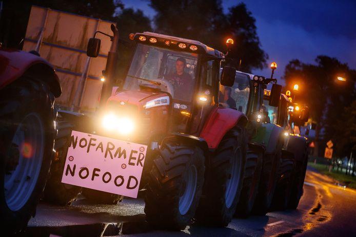 Het eerdere boerenprotest.