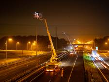 Van oranje naar wit: in half jaar ruim duizend nieuwe lampen langs A28 tussen Wezep en Zwolle