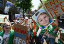 Culemborg protesteert tegen de uitzetting van een gezin naar Oekraïne.