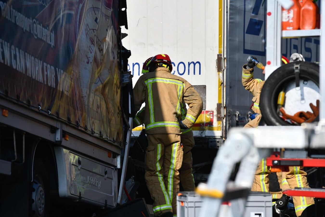 Chaos op de A67 nabij Someren woensdagochtend.