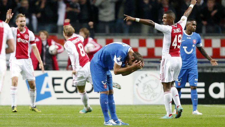 Ajax won eerder dit seizoen met 1-0 van Twente door een treffer van Christian Eriksen. Beeld ANP Pro Shots