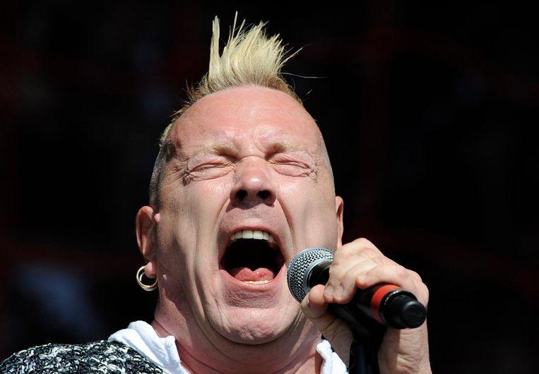 'Het beste cement van Amerika' in de mik van Johnny 'Ooit Punk' Rotten. Beeld afp